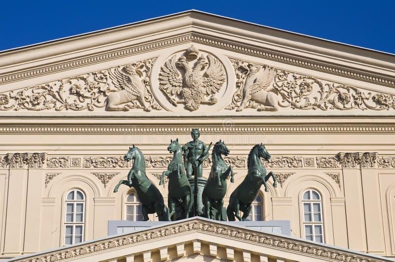 Il Quadriga sul Bolshoi immagini stock libere da diritti