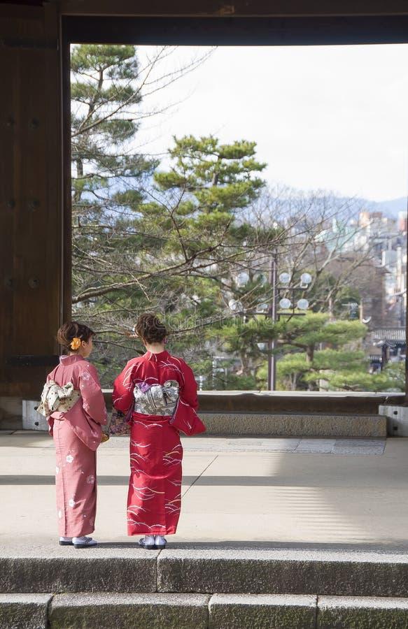 Il quarto della geisha di Gion immagine stock libera da diritti