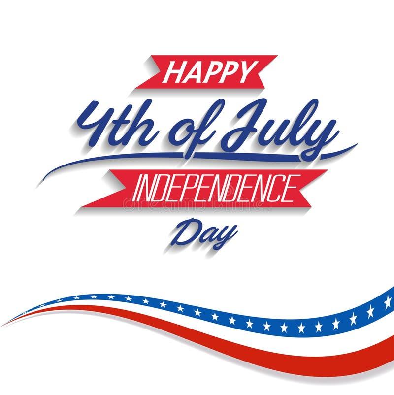 Il quarto felice di festa dell'indipendenza di U.S.A. di luglio celebra royalty illustrazione gratis