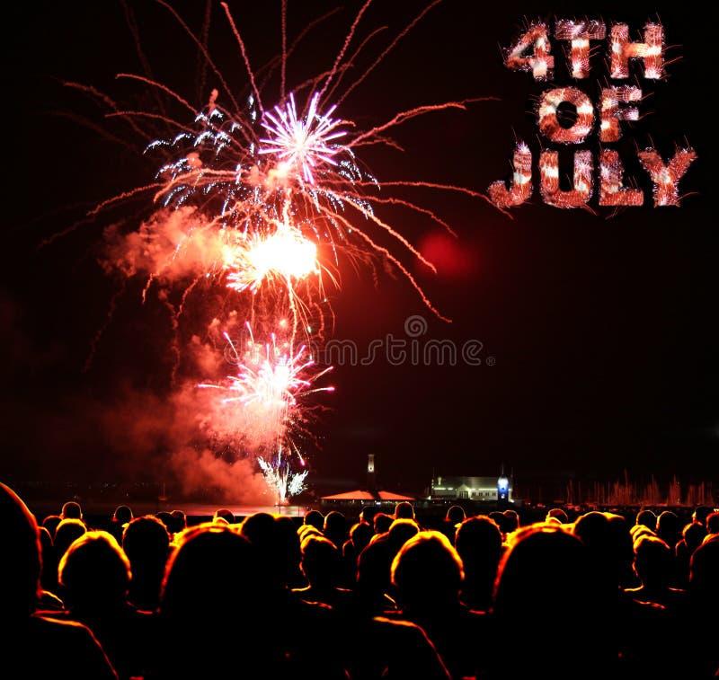 il quarto luglio immagine stock