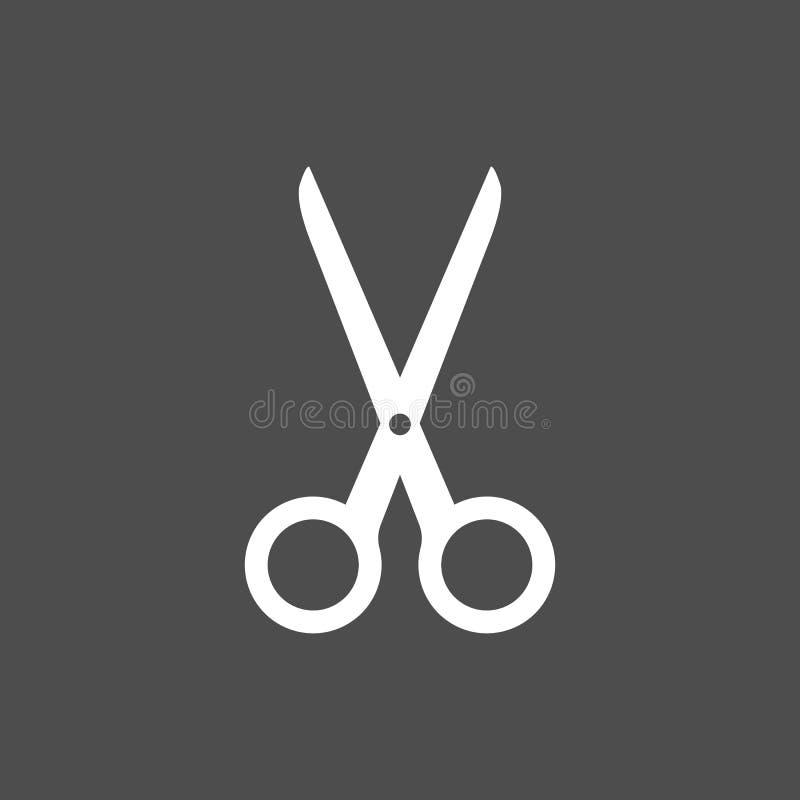 Il raccolto, tagliato tagliando l'icona di forbici Illustartion di vettore, progettazione piana illustrazione vettoriale