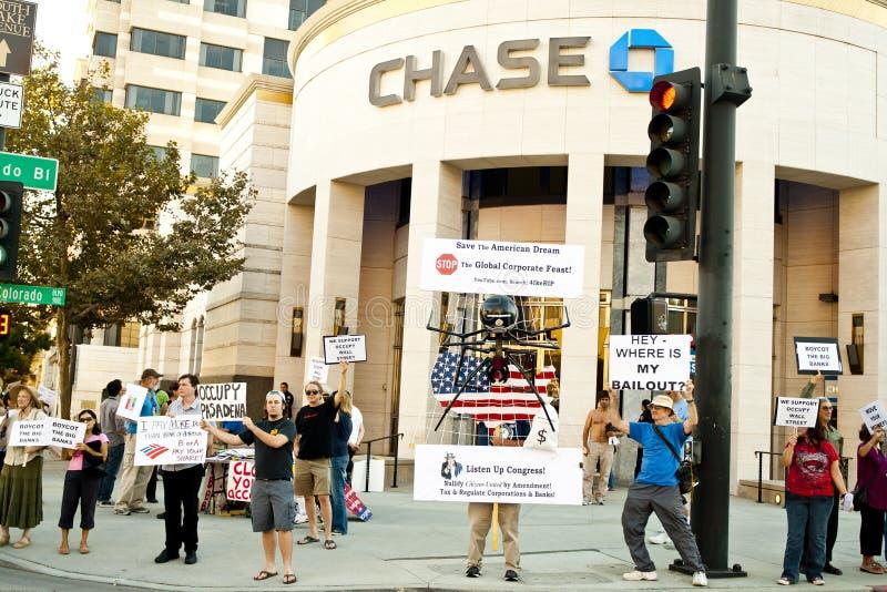 Il raduno di solidarietà a sostegno di occupa Wall Street fotografie stock libere da diritti