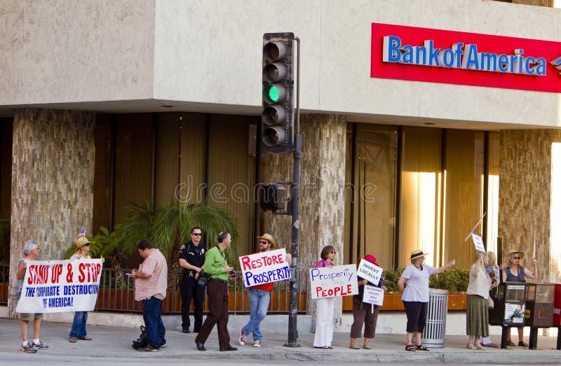 Il raduno di solidarietà a sostegno di occupa Wall Street fotografia stock