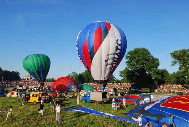 Il raduno internazionale dell'aerostato di Velikie Luki del Xvi-Th fotografie stock libere da diritti