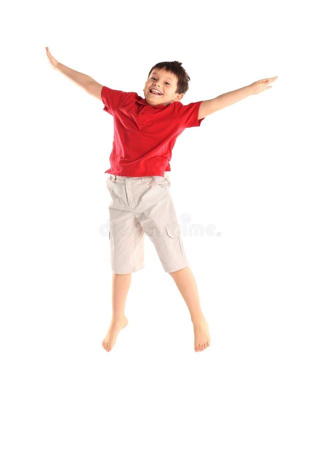 Il ragazzino si esercita. immagini stock libere da diritti