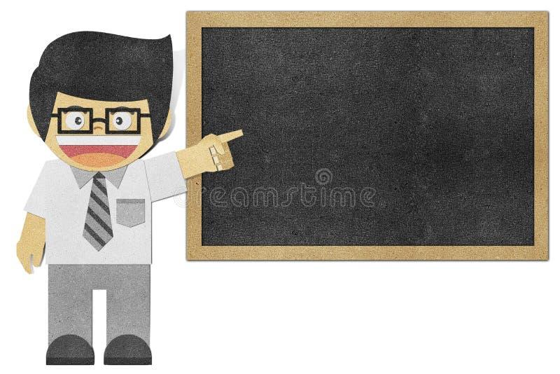 Il ragazzo di carta (uomo di affari) ha riciclato il papercraft illustrazione vettoriale