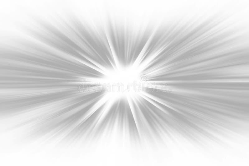 Il raggio grigio di pendenza ha scoppiato il fondo - grafico dell'illustrazione dell'ipnotico dai raggi radiali illustrazione vettoriale