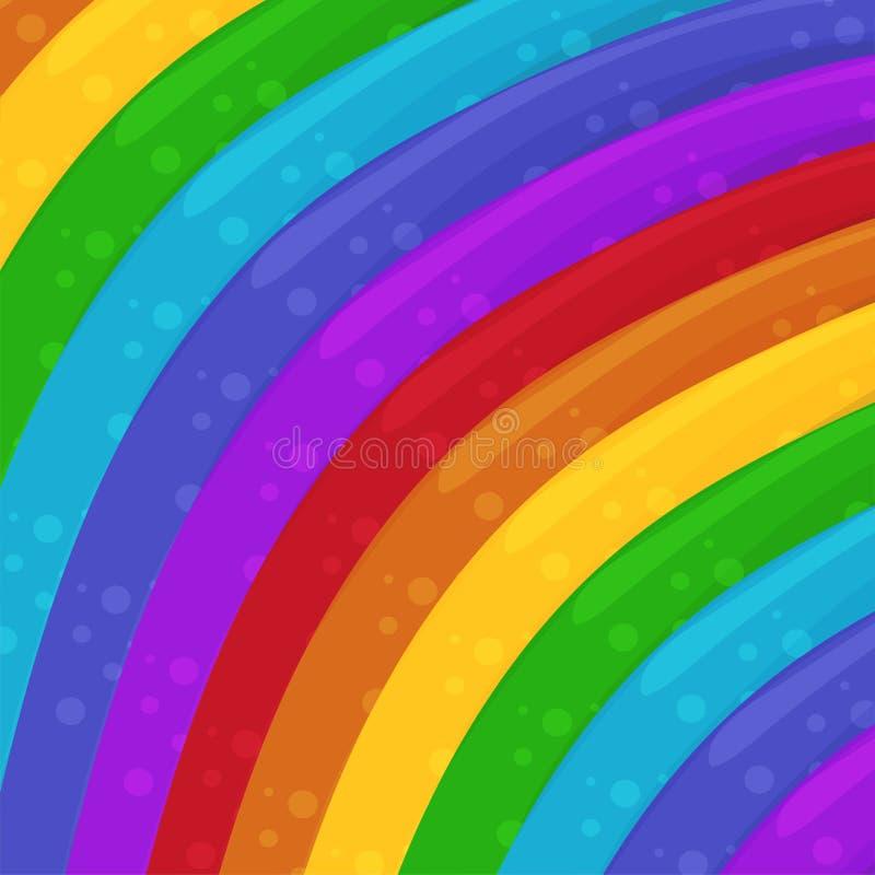 Il Rainbow colora la priorità bassa Illustrazione di disegno della priorità bassa del fumetto? con spazio di testo wallpaper Illu illustrazione vettoriale
