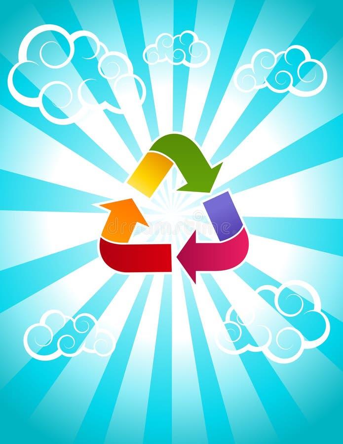 Il Rainbow ricicla l'icona illustrazione vettoriale