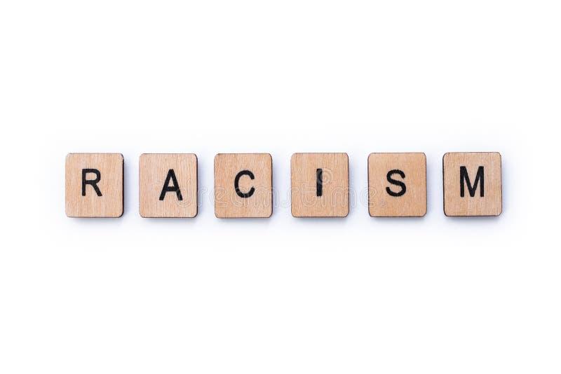 Il razzismo di parola fotografia stock libera da diritti