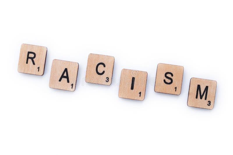 Il razzismo di parola fotografie stock