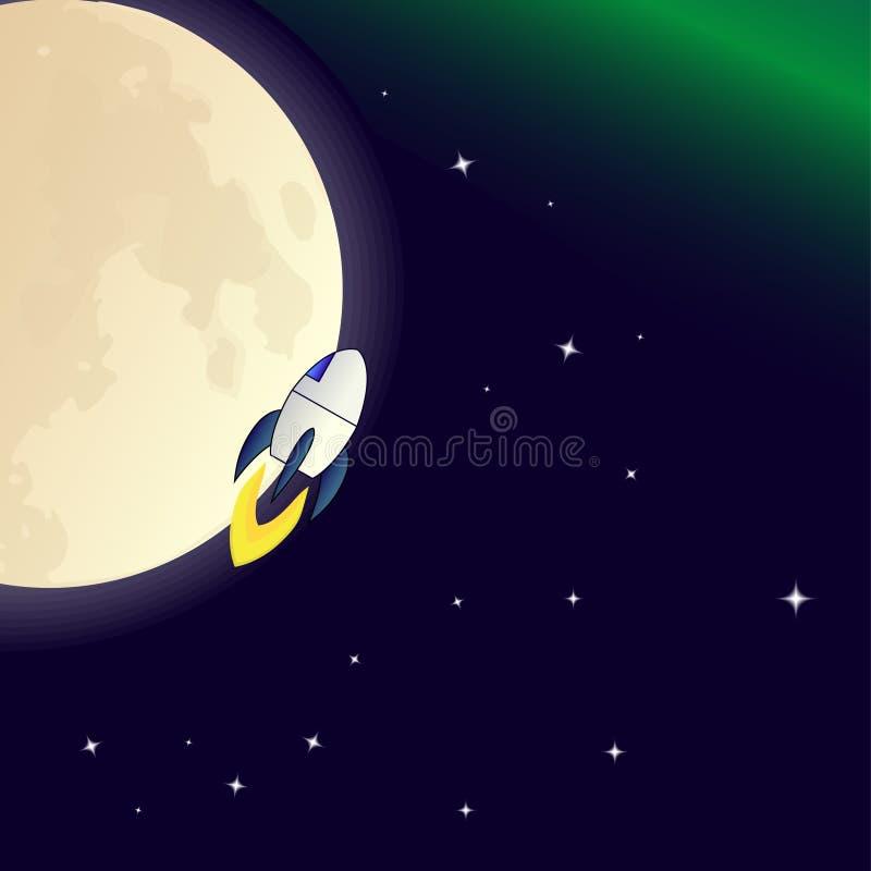 Il razzo di volo illustrazione di stock