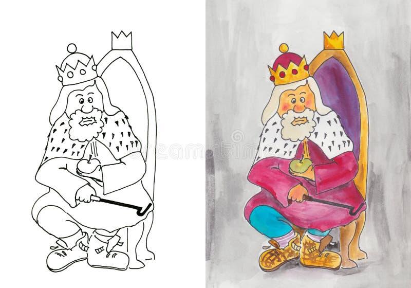 Il re anziano illustrazione di stock