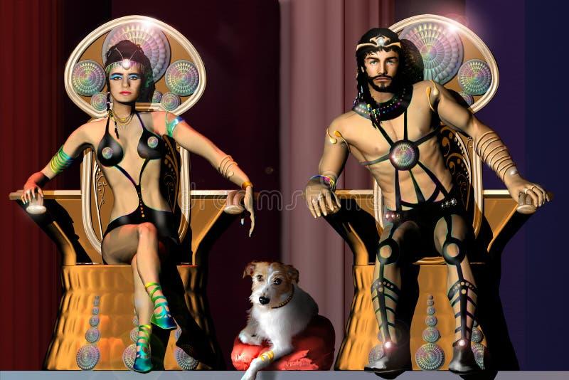 Il re e la regina royalty illustrazione gratis