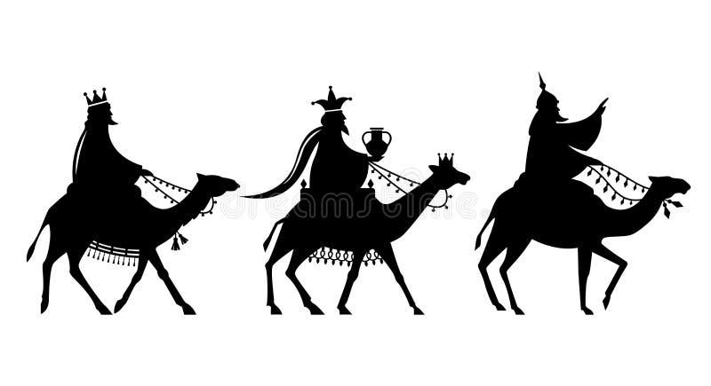 Il Re Magi sul modo a Gesù illustrazione di stock
