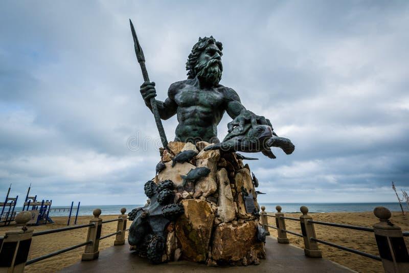 Il re Neptune Statue in Virginia Beach, la Virginia fotografia stock