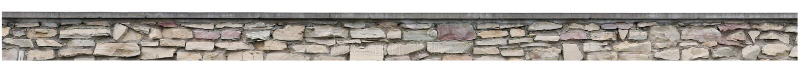 Il recinto di pietra, la parete della roccia del giardino, vecchio panorama isolato della pila del mattone, panoramico mette il b immagini stock