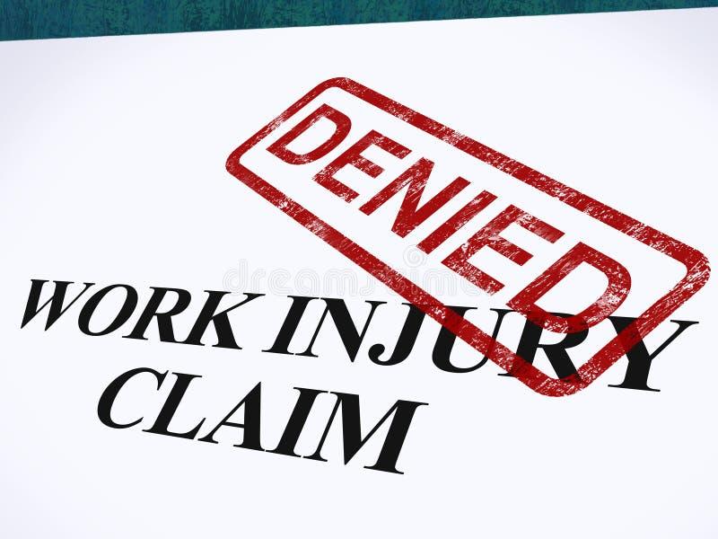 Il reclamo di lesione di lavoro negato mostra le spese mediche rifiutate illustrazione vettoriale