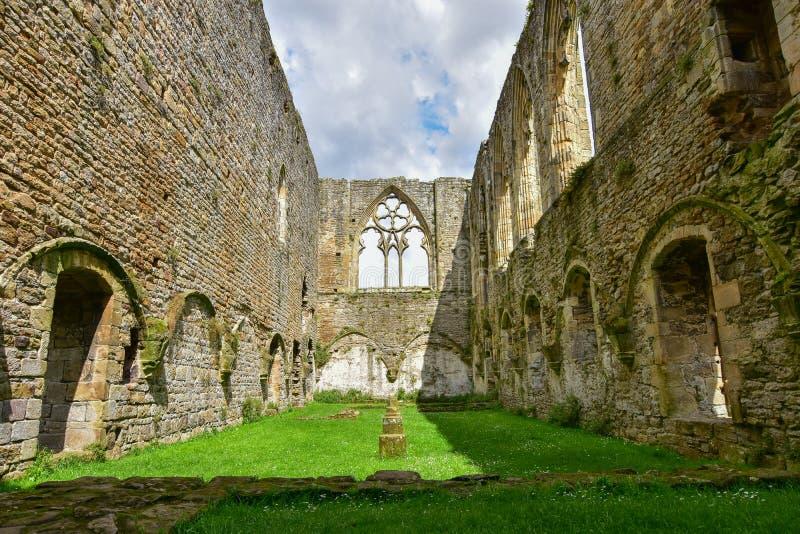 Il refettorio all'abbazia di Easby fotografie stock