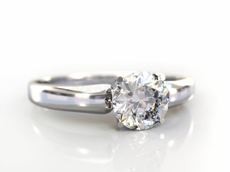 Il regalo di cerimonia nuziale dell'anello di diamante ha isolato royalty illustrazione gratis