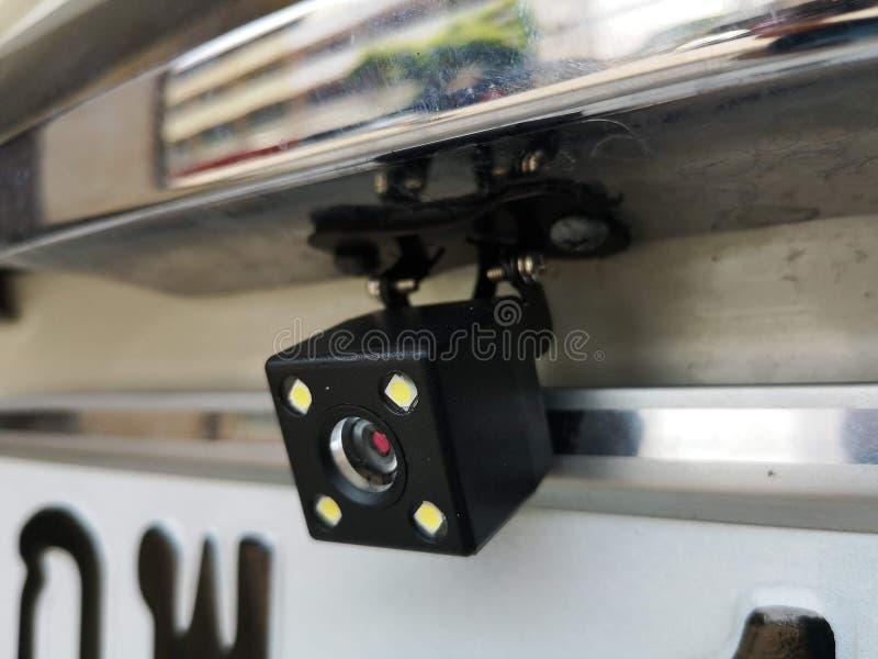 Il registratore con telecamera posteriore per auto fotografie stock