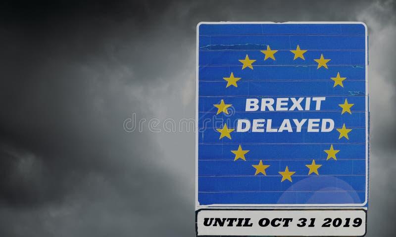 Il Regno Unito è messo per estendere lasciare l'UE via l'articolo 50 fino al 31 ottobre 2019 - BREXIT immagini stock libere da diritti