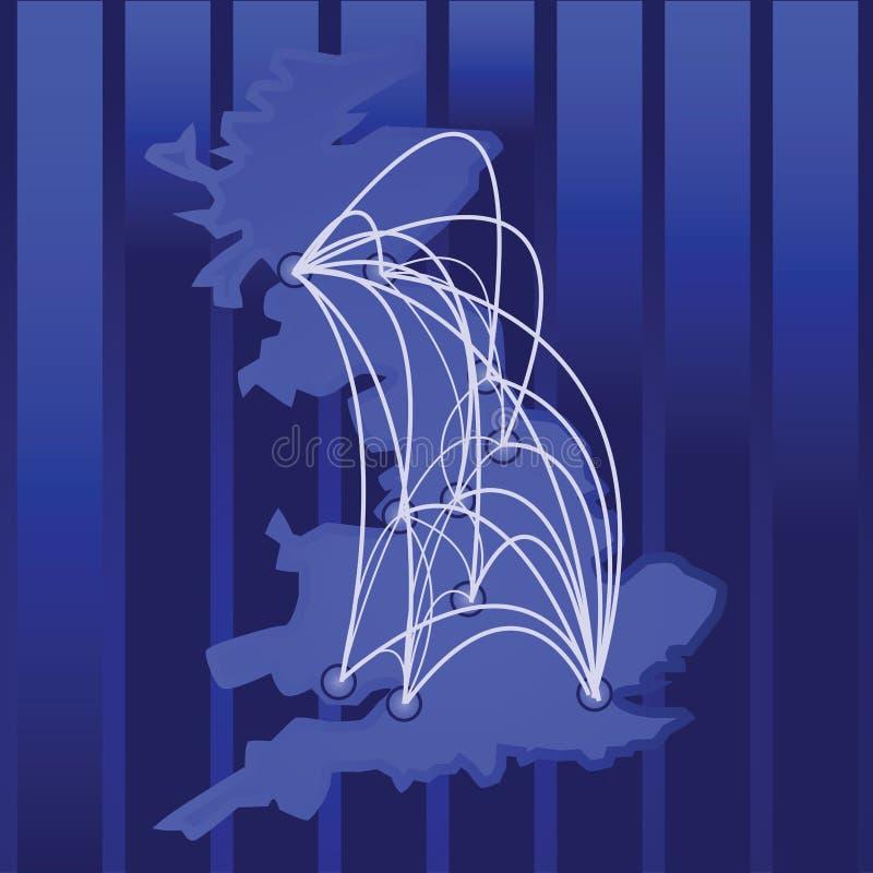 Il Regno Unito connesso illustrazione vettoriale