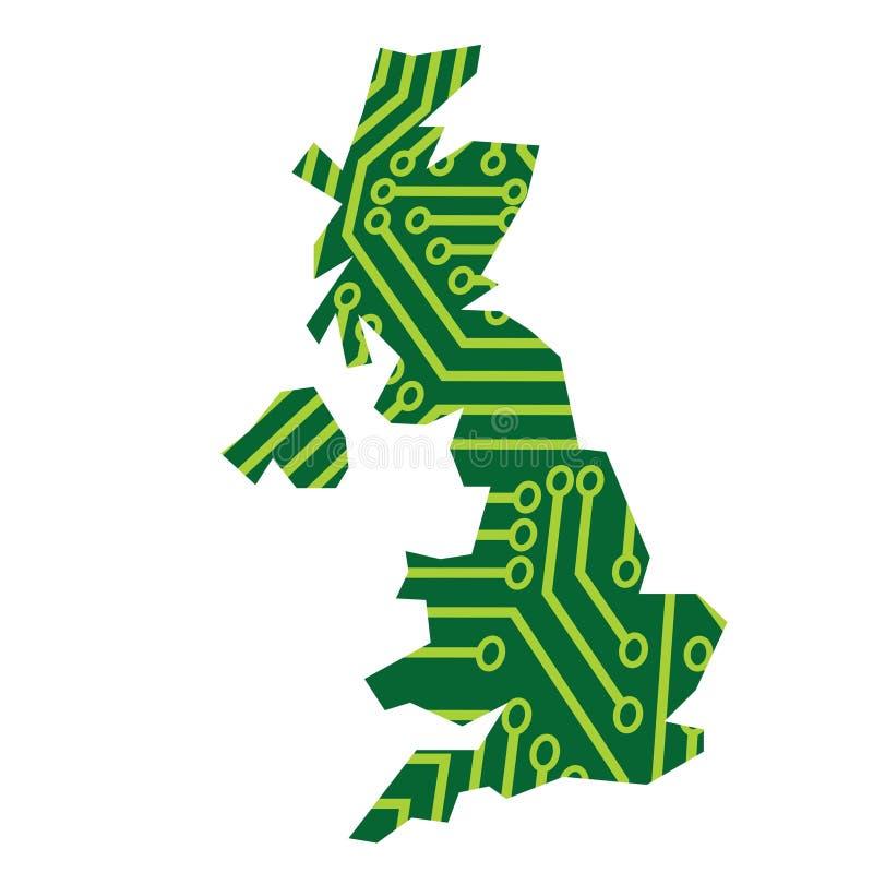 Il Regno Unito elettronico illustrazione vettoriale