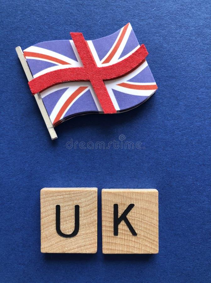 Il Regno Unito, nelle lettere di legno di alfabeto 3d fotografia stock libera da diritti