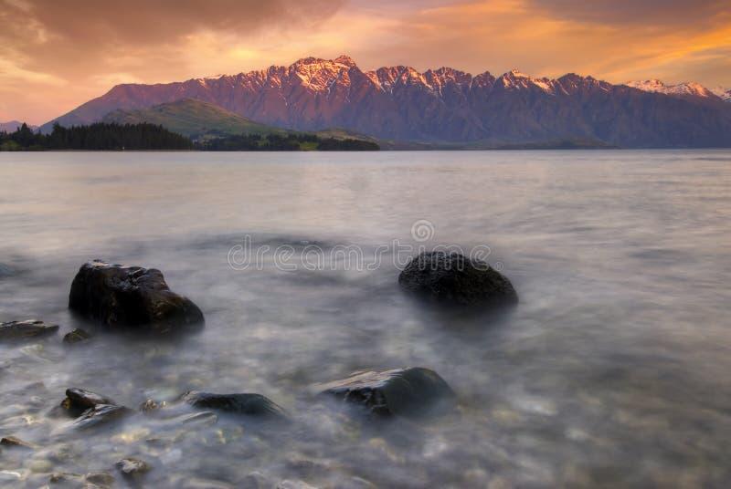 Il Remarkables, Queenstown, isola del sud, Nuova Zelanda. fotografia stock