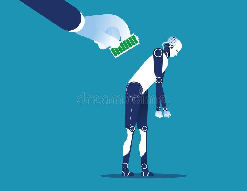 Il responsabile paga l'impiegato lavoro Illustrazione di vettore di affari di concetto illustrazione vettoriale