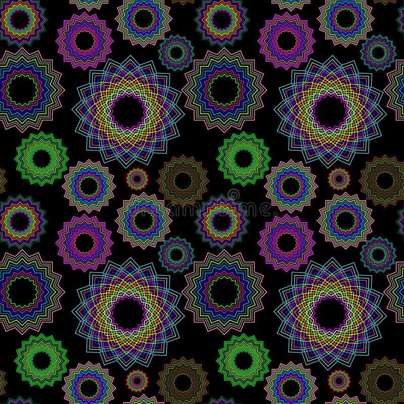 Il reticolo geometrico senza giunte ha esteso 2 illustrazione di stock