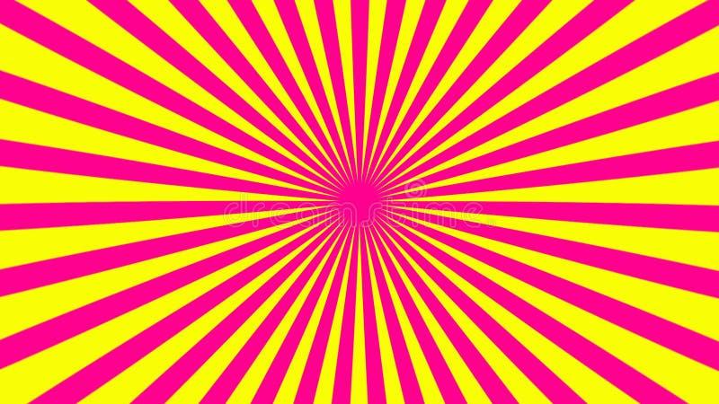 Il retro fondo a strisce dello sprazzo di sole con effetto di lerciume, il contesto generato da computer, 3D rende royalty illustrazione gratis