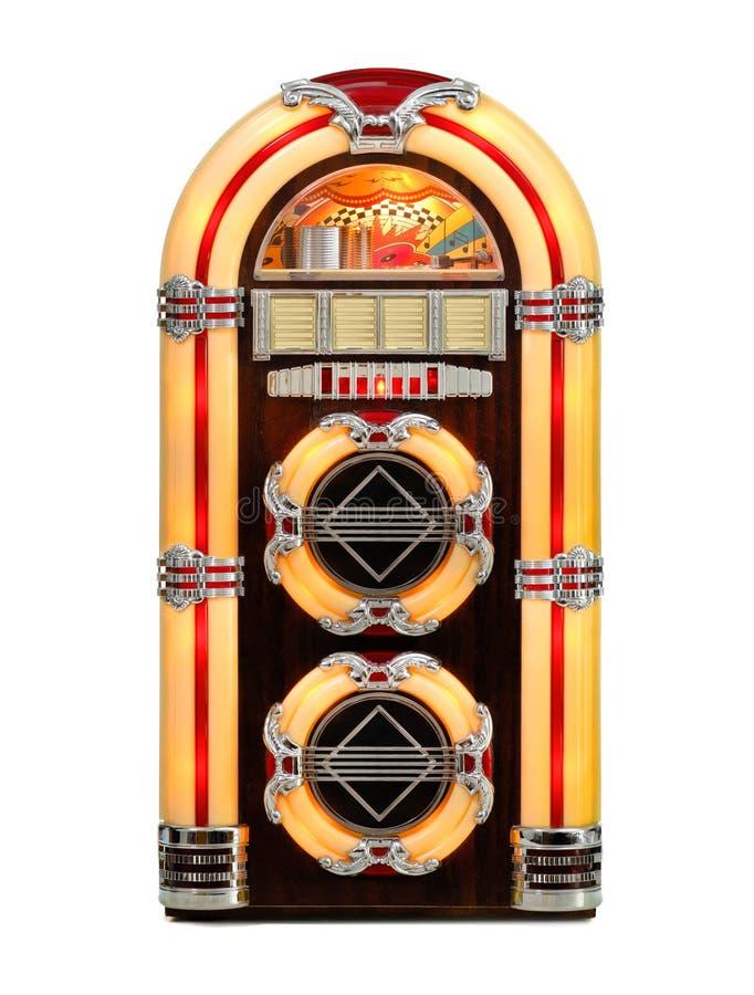 Il retro jukebox ha isolato fotografie stock libere da diritti