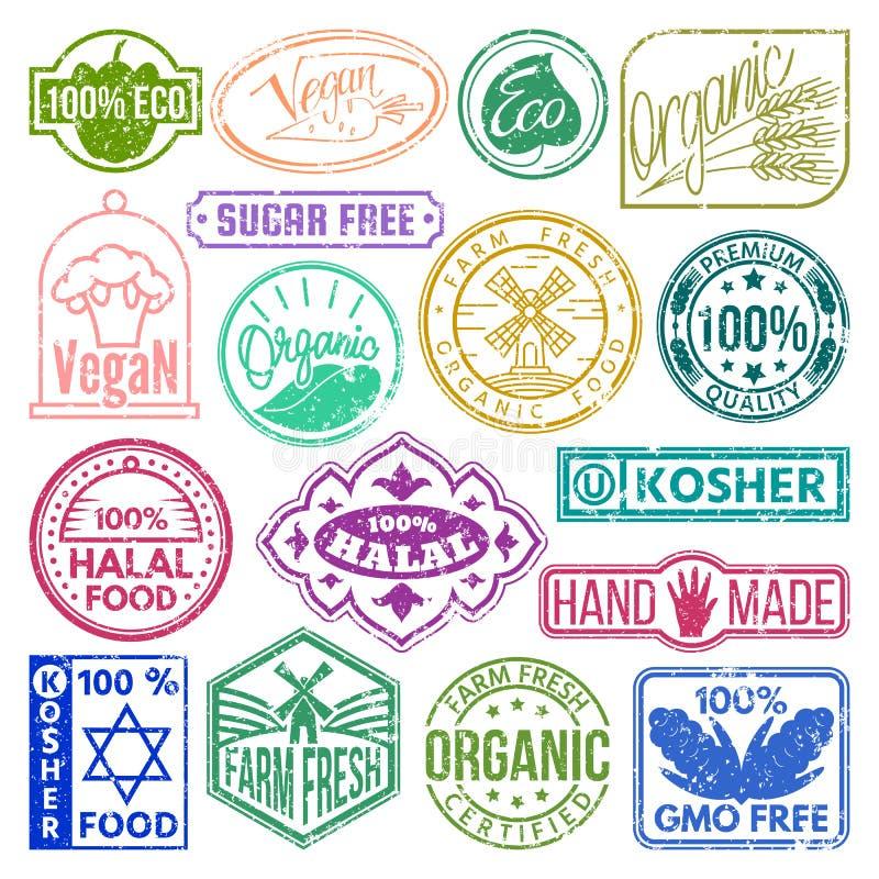 Il retro lerciume del marchio di qualità di logo del segno premio del prodotto badges l'illustrazione d'annata di vettore dell'et illustrazione di stock