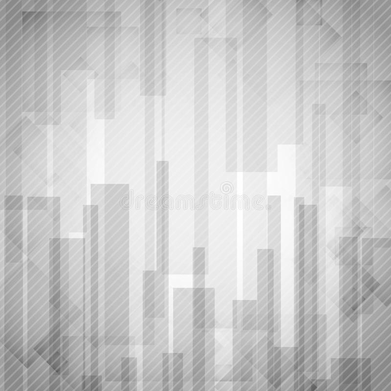 Il rettangolo bianco astratto modella i cenni storici. illustrazione di stock