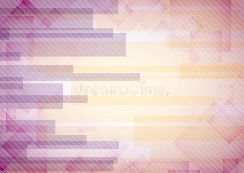 Il rettangolo rosa astratto modella i cenni storici. illustrazione di stock
