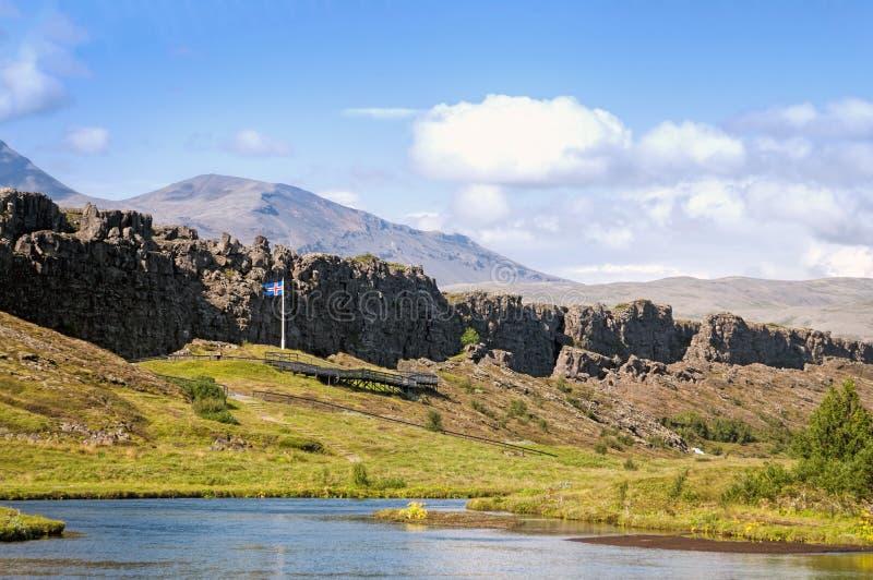 Il Reykjanes Ridge, Islanda immagine stock