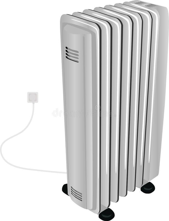 Il riscaldatore elettrico dell'olio isolato su bianco royalty illustrazione gratis