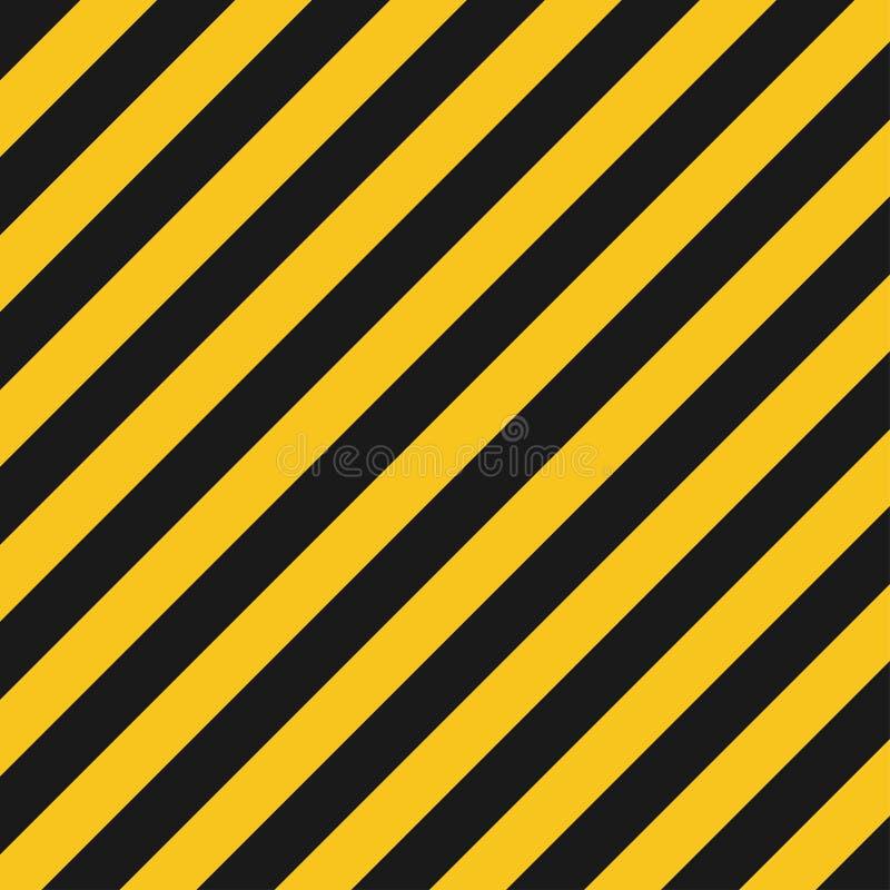 Il rischio barra la struttura Strada a strisce industriale, avvertimento di crimine della costruzione royalty illustrazione gratis
