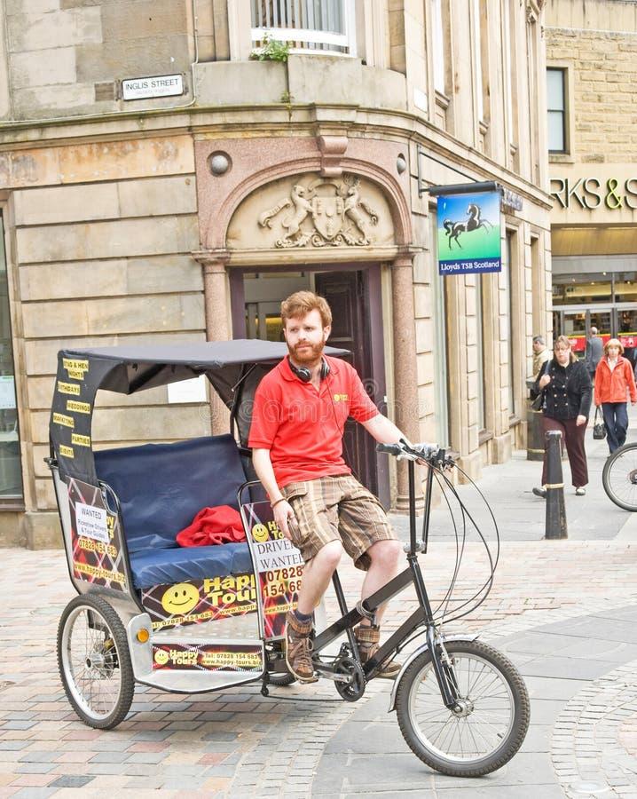 Il risciò viene ad Inverness! fotografie stock libere da diritti