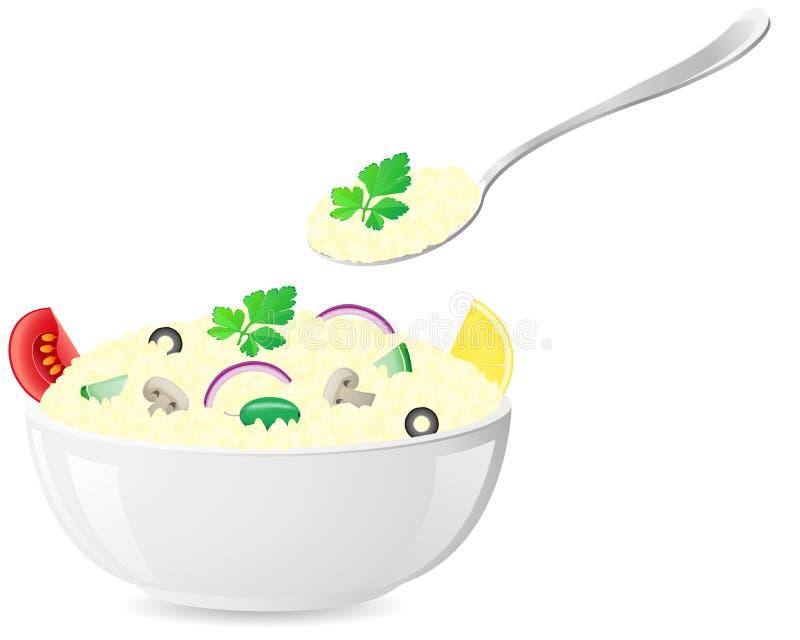 Il riso italiano con le verdure vector l'illustrazione illustrazione di stock