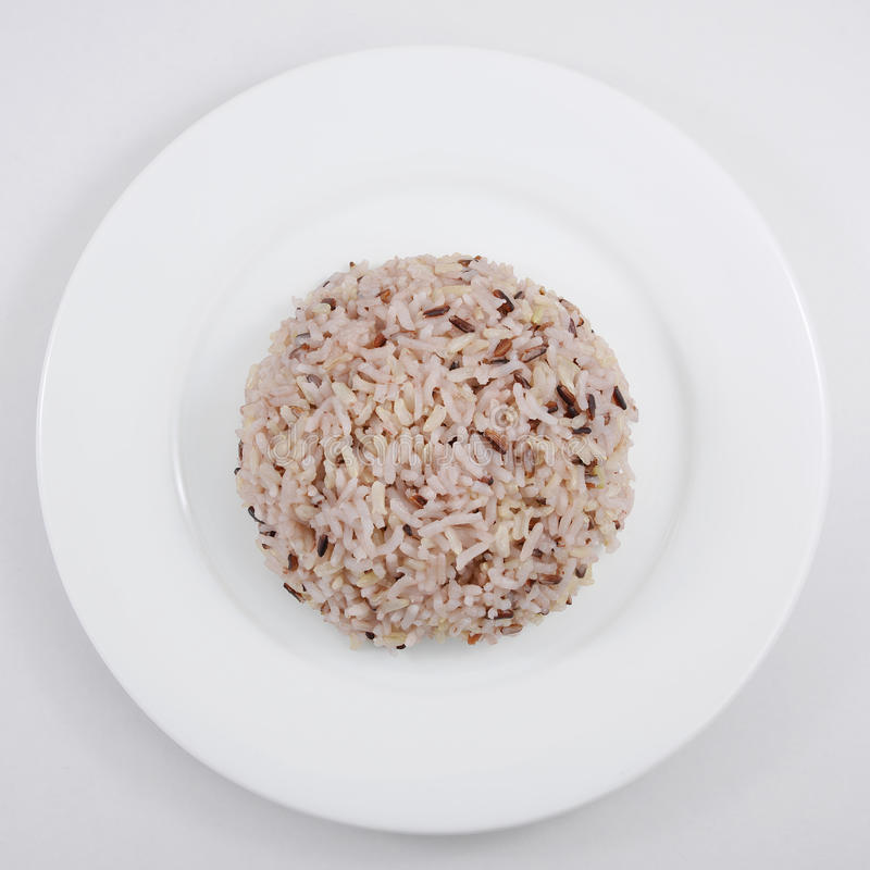Il riso sbramato cucinato fotografia stock