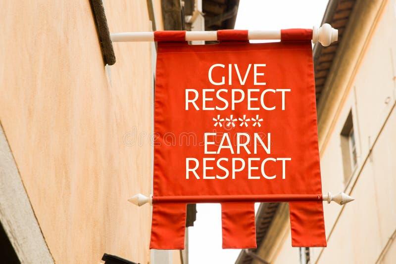 Il rispetto di elasticità guadagna il rispetto su un'immagine concettuale immagine stock libera da diritti
