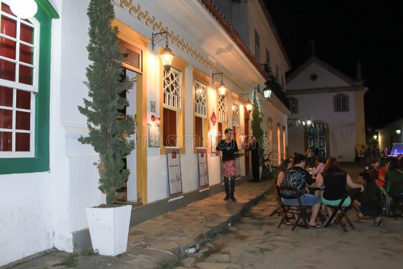 Il ristorante affascinante in una città storica immagine stock libera da diritti