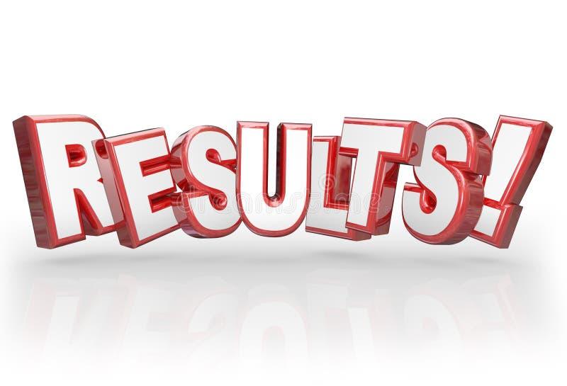 Il risultato di realizzazione di parola di risultati 3D raggiunge lo scopo illustrazione di stock