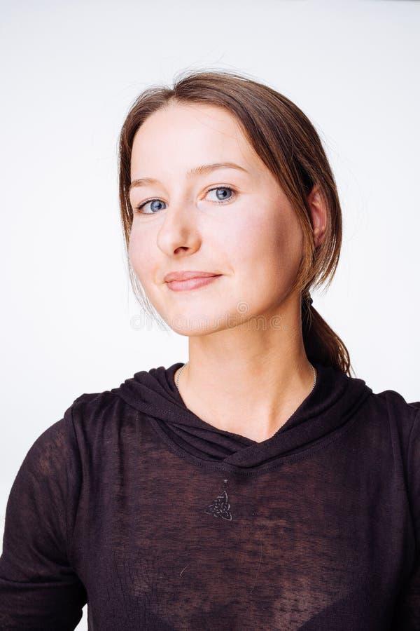 Il ritratto della donna pacifica fotografia stock