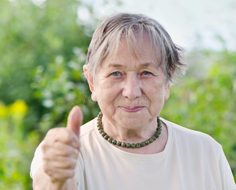 Il ritratto della donna senior immagini stock