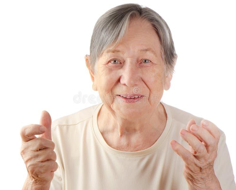 Il ritratto della donna senior immagini stock libere da diritti