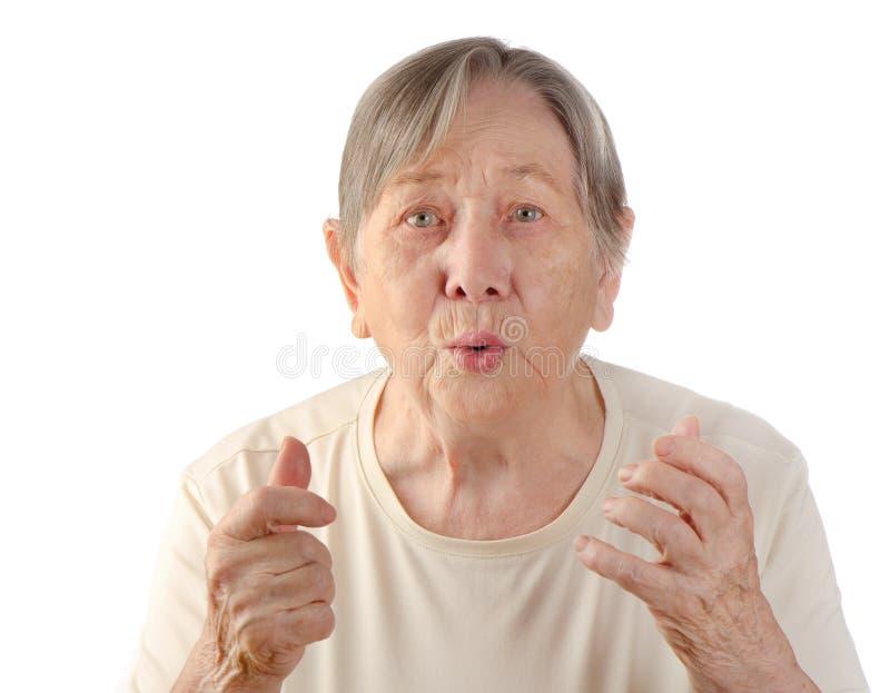 Il ritratto della donna senior immagine stock